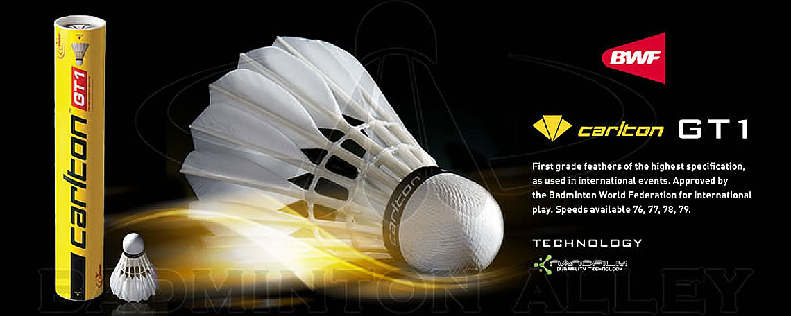 Carlton GT-1 Professional Tournament Grade Feather Shuttlecock