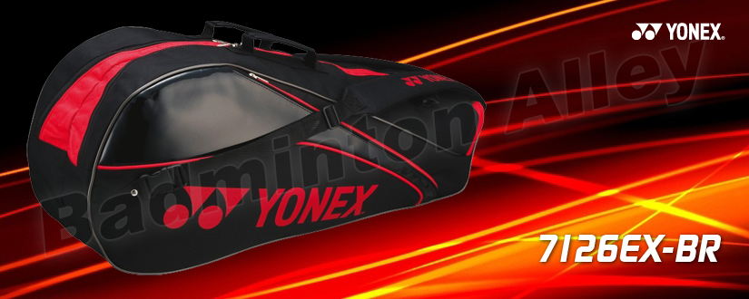 Yonex Badminton Tennis Bag 7126 / 7126EX Black Red