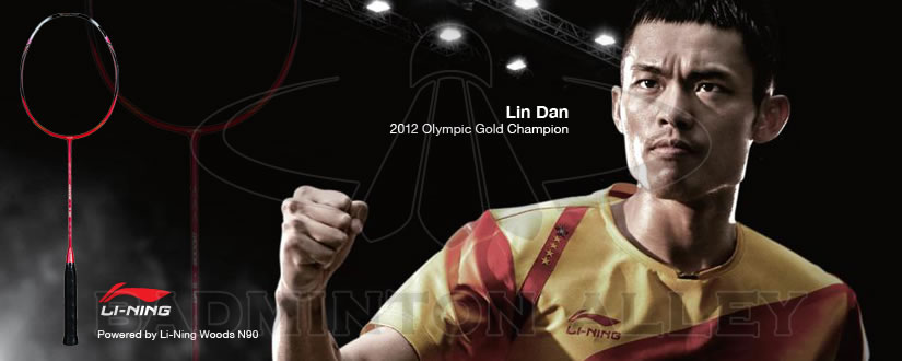4 times World Champion and 2012 & 2008 Olympic Gold Medalist Lin Dan using Li-Ning Woods N90 Badminton Racket