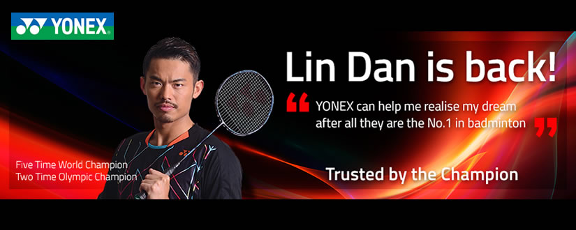 Lin Dan with Yonex Voltric Z-Force 2 (VTZF2) Badminton Racket