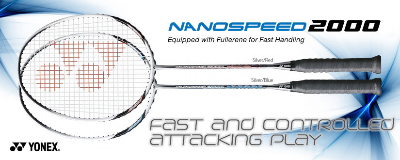 Yonex 2011 NanoSpeed 2000 Red & Blue Badminton Racket
