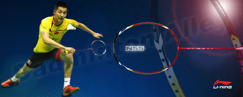 Li-Ning Flame N55 is the 2010 World Champion and 2008 Bronze Medalist Chen Jin of China badminton racket 