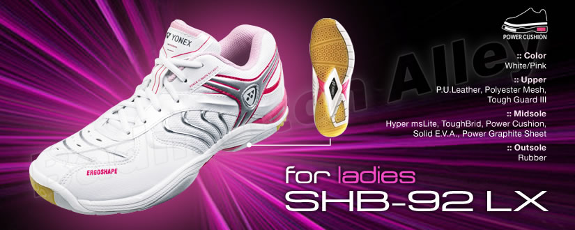 Yonex SHB-92LX Ladies Pink Badminton Shoes