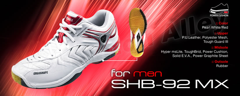 Yonex SHB-92MX Men Red Badminton Shoes