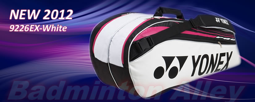 Yonex 2012 9226EX White Black Magenta Professional Badminton Tennis Thermal Bag