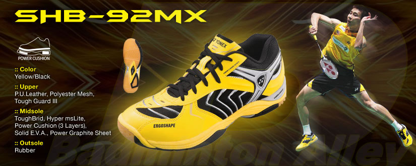 Yonex SHB-92MX Flash Yellow Limited Edition Badminton Shoes